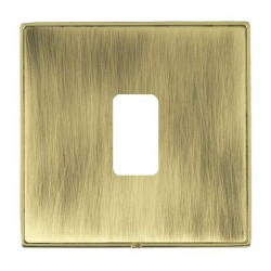 Hamilton Linea-Duo CFX Polished Brass/Antique Brass 1 Gang Grid Fix Aperture Plate with Grid