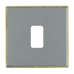 Hamilton Linea-Duo CFX Polished Brass/Satin Steel 1 Gang Grid Fix Aperture Plate with Grid