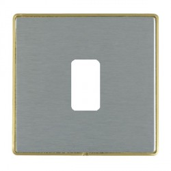 Hamilton Linea-Duo CFX Satin Brass/Satin Steel 1 Gang Grid Fix Aperture Plate with Grid