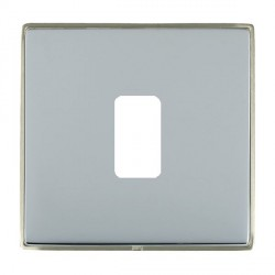 Hamilton Linea-Duo CFX Satin Nickel/Bright Steel 1 Gang Grid Fix Aperture Plate with Grid