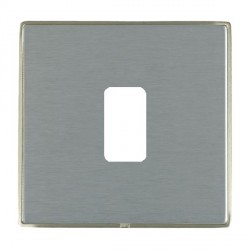 Hamilton Linea-Duo CFX Satin Nickel/Satin Steel 1 Gang Grid Fix Aperture Plate with Grid