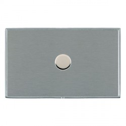 Hamilton Linea-Duo CFX Bright Chrome/Satin Steel Push On/Off Dimmer 1 Gang 2 way 1000W with Bright Chrome...