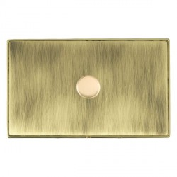 Hamilton Linea-Duo CFX Polished Brass/Antique Brass Push On/Off Dimmer 1 Gang 2 way 1000W with Polished B...