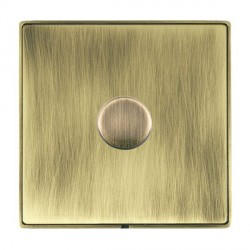 Hamilton Linea-Duo CFX Antique Brass/Antique Brass Push On/Off Dimmer 1 Gang 2 way 200VA Inductive with A...