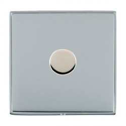 Hamilton Linea-Duo CFX Bright Chrome/Bright Chrome Push On/Off 400W Dimmer 1 Gang 2 way with Bright Chrome Insert