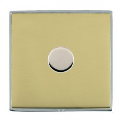 Hamilton Linea-Duo CFX Bright Chrome/Polished Brass Push On/Off 400W Dimmer 1 Gang 2 way with Bright Chrome Insert