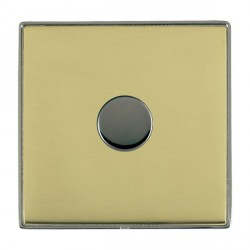 Hamilton Linea-Duo CFX Black Nickel/Polished Brass Push On/Off 400W Dimmer 1 Gang 2 way with Black Nickel Insert