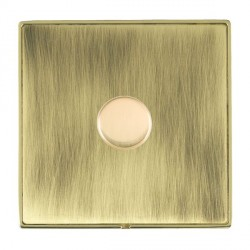 Hamilton Linea-Duo CFX Polished Brass/Antique Brass Push On/Off 600W Dimmer 1 Gang 2 way with Polished Br...
