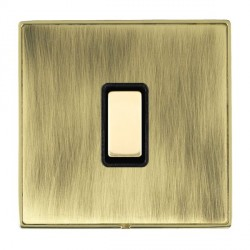 Hamilton Linea-Duo CFX Polished Brass/Antique Brass 1 Gang Multi way Touch Master Trailing Edge with Black Insert