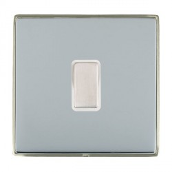 Hamilton Linea-Duo CFX Satin Nickel/Bright Steel 1 Gang Multi way Touch Master Trailing Edge with White I...