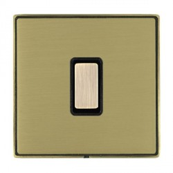 Hamilton Linea-Duo CFX Antique Brass/Satin Brass 1 Gang Multi way Touch Slave Trailing Edge with Black Insert