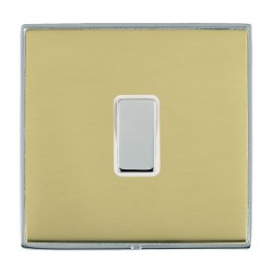 Hamilton Linea-Duo CFX Bright Chrome/Polished Brass 1 Gang Multi way Touch Slave Trailing Edge with White...