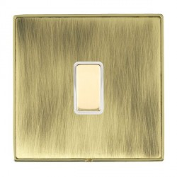 Hamilton Linea-Duo CFX Polished Brass/Antique Brass 1 Gang Multi way Touch Slave Trailing Edge with White...