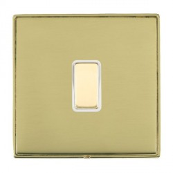 Hamilton Linea-Duo CFX Polished Brass/Polished Brass 1 Gang Multi way Touch Slave Trailing Edge with Whit...