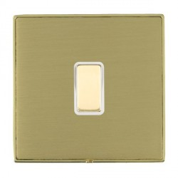 Hamilton Linea-Duo CFX Polished Brass/Satin Brass 1 Gang Multi way Touch Slave Trailing Edge with White I...