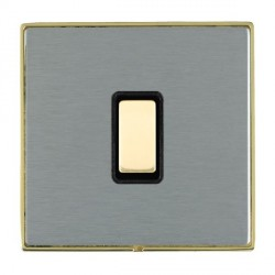 Hamilton Linea-Duo CFX Polished Brass/Satin Steel 1 Gang Multi way Touch Slave Trailing Edge with Black I...