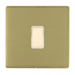 Hamilton Linea-Duo CFX Satin Brass/Satin Brass 1 Gang Multi way Touch Slave Trailing Edge with White Inse...