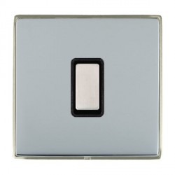 Hamilton Linea-Duo CFX Satin Nickel/Bright Steel 1 Gang Multi way Touch Slave Trailing Edge with Black In...