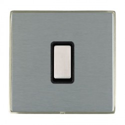Hamilton Linea-Duo CFX Satin Nickel/Satin Steel 1 Gang Multi way Touch Slave Trailing Edge with Black Ins...