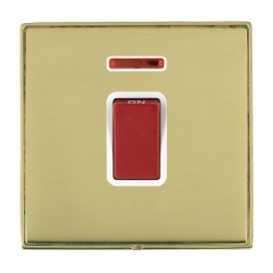 Hamilton Linea-Duo CFX Polished Brass/Polished Brass 1 Gang 45A Double Pole Red Rocker + neon with White ...