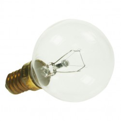 Small Edison Screw 240v 40 Watt Clear Oven Lamp