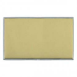 Hamilton Linea-Duo CFX Bright Chrome/Polished Brass Double Blank Plate