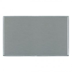 Hamilton Linea-Duo CFX Bright Chrome/Satin Steel Double Blank Plate