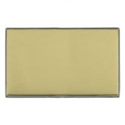 Hamilton Linea-Duo CFX Black Nickel/Polished Brass Double Blank Plate