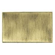 Hamilton Linea-Duo CFX Polished Brass/Antique Brass Double Blank Plate
