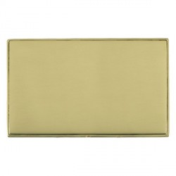 Hamilton Linea-Duo CFX Polished Brass/Polished Brass Double Blank Plate