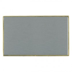 Hamilton Linea-Duo CFX Polished Brass/Satin Steel Double Blank Plate