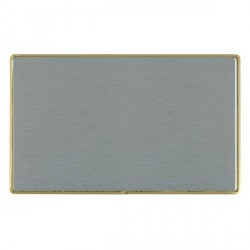 Hamilton Linea-Duo CFX Satin Brass/Satin Steel Double Blank Plate