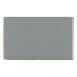 Hamilton Linea-Duo CFX Satin Nickel/Satin Steel Double Blank Plate