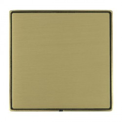 Hamilton Linea-Duo CFX Antique Brass/Satin Brass Single Blank Plate