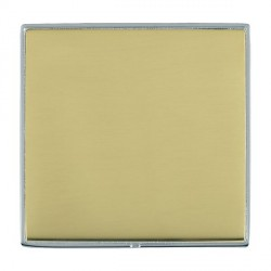 Hamilton Linea-Duo CFX Bright Chrome/Polished Brass Single Blank Plate
