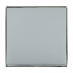 Hamilton Linea-Duo CFX Black Nickel/Bright Steel Single Blank Plate