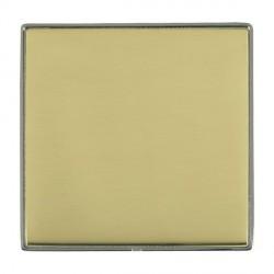 Hamilton Linea-Duo CFX Black Nickel/Polished Brass Single Blank Plate