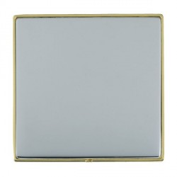 Hamilton Linea-Duo CFX Polished Brass/Bright Steel Single Blank Plate