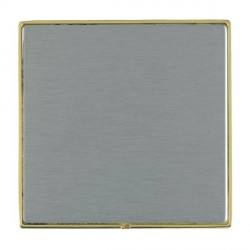 Hamilton Linea-Duo CFX Polished Brass/Satin Steel Single Blank Plate