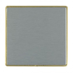 Hamilton Linea-Duo CFX Satin Brass/Satin Steel Single Blank Plate