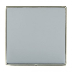 Hamilton Linea-Duo CFX Satin Nickel/Bright Steel Single Blank Plate