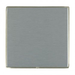 Hamilton Linea-Duo CFX Satin Nickel/Satin Steel Single Blank Plate