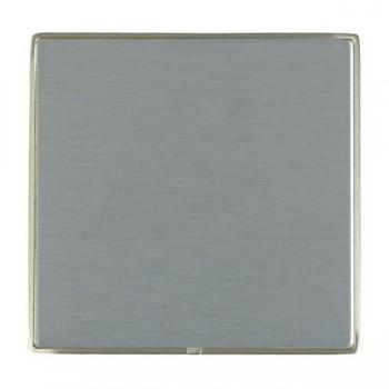 Hamilton Linea-Duo CFX Satin Nickel/Satin Steel Single Blank Plate