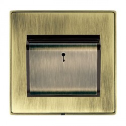 Hamilton Linea-Duo CFX Antique Brass/Antique Brass 1 Gang On/Off 10A Card Switch with Blue LED Locator wi...