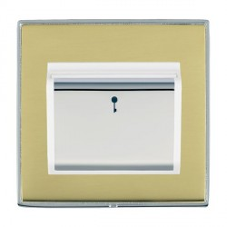 Hamilton Linea-Duo CFX Bright Chrome/Polished Brass 1 Gang On/Off 10A Card Switch with Blue LED Locator w...