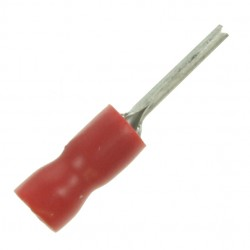Red 2.0x12.0mm Pin Terminal (Pack of 100)