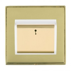 Hamilton Linea-Duo CFX Polished Brass/Polished Brass 1 Gang On/Off 10A Card Switch with Blue LED Locator ...