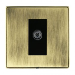 Hamilton Linea-Duo CFX Antique Brass/Antique Brass 1 Gang Digital Satellite with Black Insert