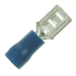Blue 6.4x0.8mm Female Push-On Terminal (Pack of 100)