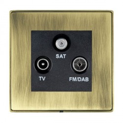 Hamilton Linea-Duo CFX Antique Brass/Antique Brass TV+FM+SAT (DAB Compatible) with Black Insert